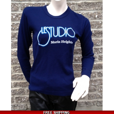 Girlie Navy Blue Long sleeves R-Neck White & Blue Front Logo M/H
