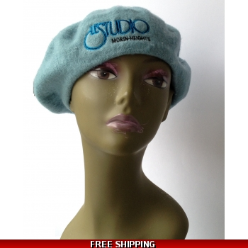 Wool Sky Blue French Beret B..