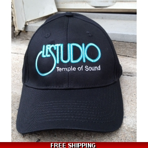 Le Studio Black Baseball Hat White & Blue Front Logo Original  TOS