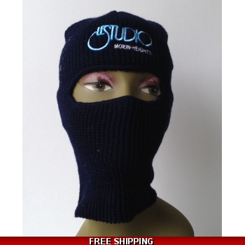 Le Studio Navy Blue Ski Mask..