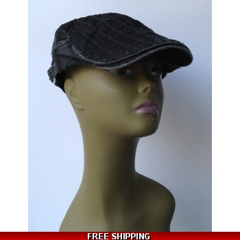Black Stripes Beret Whi..