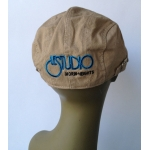 Dark Beige Beret Black & Blue Embroid Back Logo M/H
