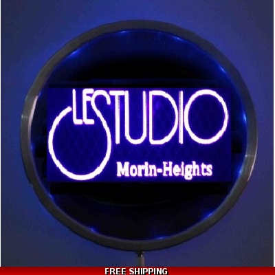 Le Studio Led Light Round Sign Morin-Heights