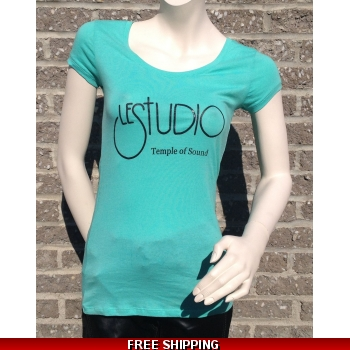 Girlie Blue/Green Round-Neck..