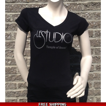 Girlie Shirt Black V Ne..