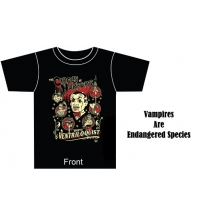 VENTRILOQUIST MENS TEE - Vampires are Endangered Species