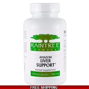 Raintree Amazon Liver Support 600 mg 120 Veg Capsules