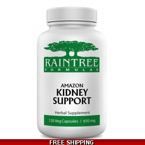 Raintree Amazon Kidney Support 650mg 120 Veg Caps