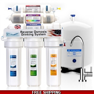 5 Stage Home Drinking Reverse Osmosis Water System W Ph+
