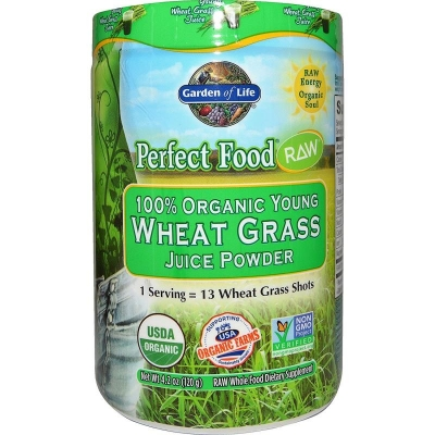 Garden of Life Food RAW - Organic Young Wheat Grass Juice Powder
