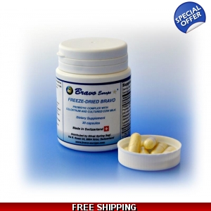 Bravo Probiotics Concentrate Capsules 30 day sup..