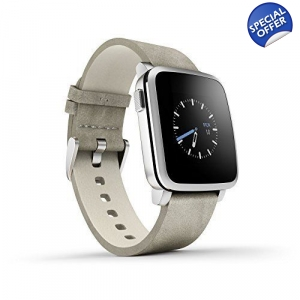 Pebble Time Steel Smartwatch for Apple/Android D..