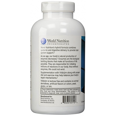 World Nutrition Vitalzym™ 450 Capsules Enzymes