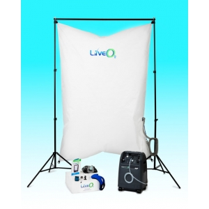 Live O2 system with Altitude contrast and 10LPM Oxygen Concentrator