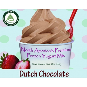 Dutch Chocolate Soft Serve Frozen Yogurt Mix