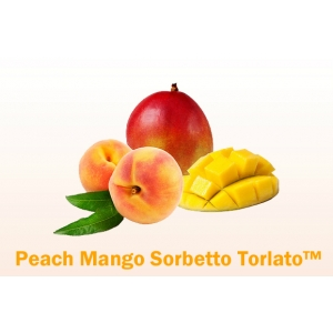 Peach Mango Soft-Serve Fruit Sorbet Mix