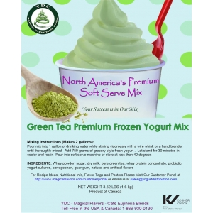 Green Tea Premium Frozen Yogurt Mix