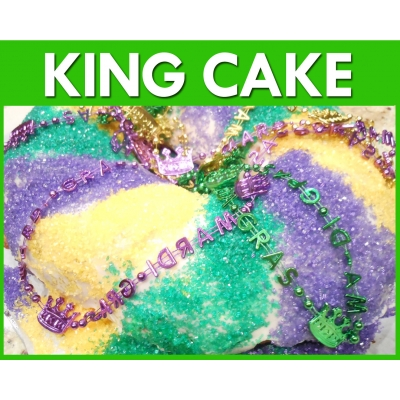 King Cake Green Flavour..