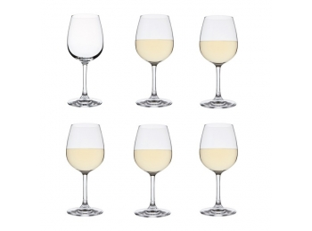 Drink! 6 White Wine Glasses