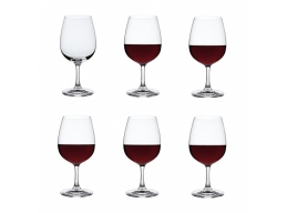 Drink! 6 Red Wine Glasses