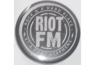 Riot FM Button Badge