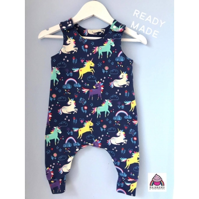 Navy Unicorn Dungys 3-4y