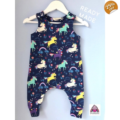 Navy Unicorn Dungys 4-5y