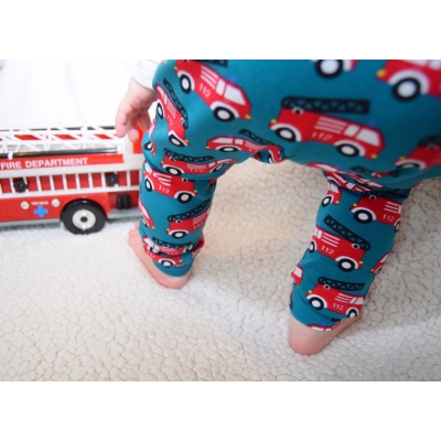 Newborn Teal Fire Engine Leggings