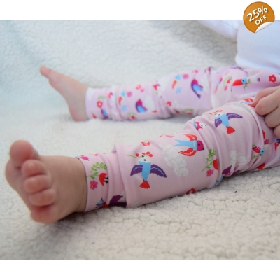 4-5y Pretty Pink Bird Leggings