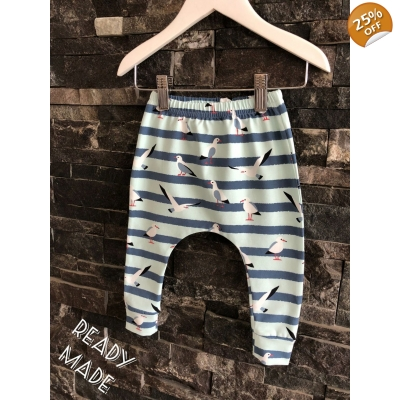 6-9m Mint Seagull Leggings