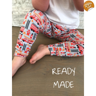 Fire Engine Leggings 3-4y