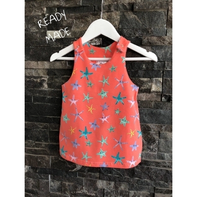 6-9m Coral Starfish Pinafore..