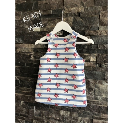 6-9m Starfish Pinafore Dress