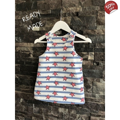 0-3m Starfish Pinafore Dress