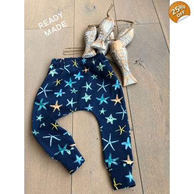 4-5y Navy Starfish Leggings