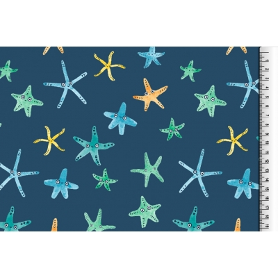 9-12m Navy Starfish Pinafore..