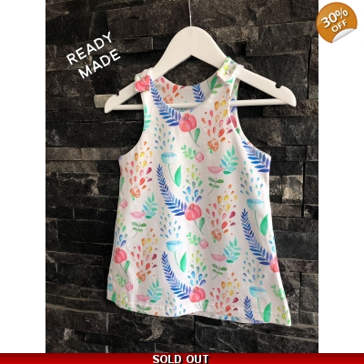 18-24m Watercolour Flowers Pinafore Dress