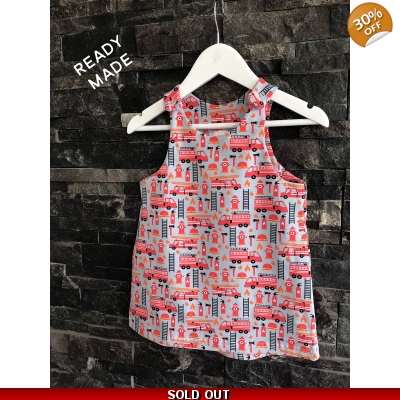 18-24m Fire Engine Pinafore Dress