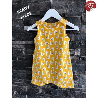 6-9m Mustard Seagull Shortie Dungys
