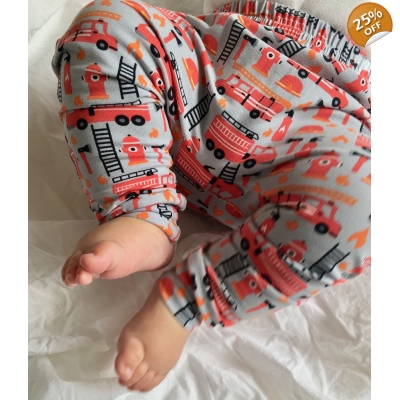 6-9m PREORDERS Fire Engine Leggings