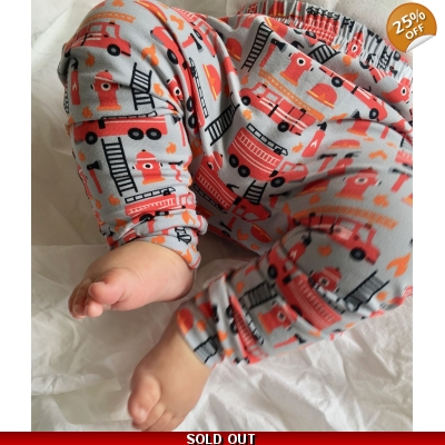 3-4y PREORDERS Fire Engine Leggings