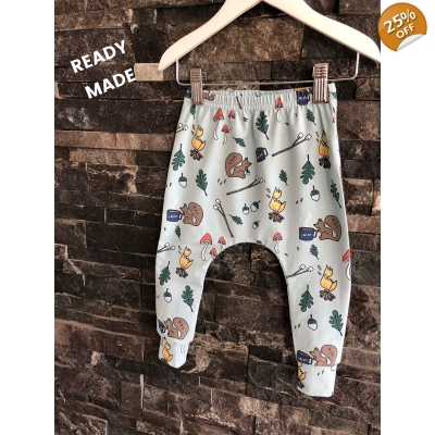 Newborn Autumn Camping Leggings