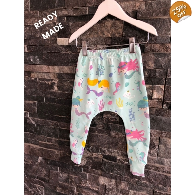 9-12m Mermaid & Friends Leggings