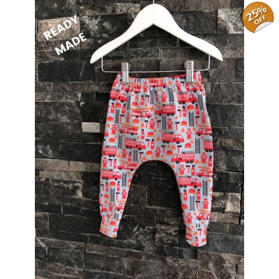 9-12m Fire Engine Leggings
