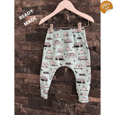 9-12m Happy Campers Leggings