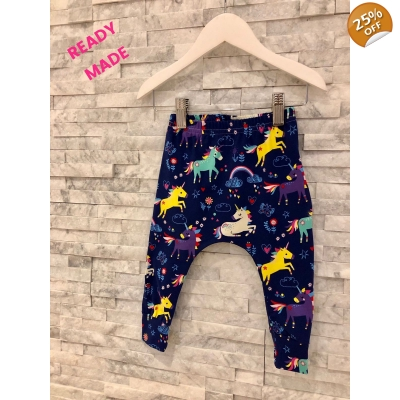 Newborn Navy Unicorn Leggings