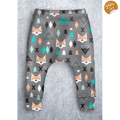 PREORDERS 9-12m Geo Fox Leggings