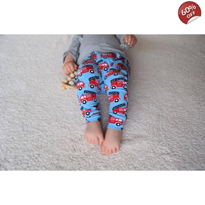 3-6m Blue Fire Engine Leggings please note the label says ..