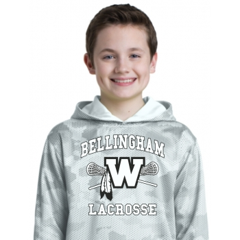 Warriors Youth Camohex White Out Hoodie