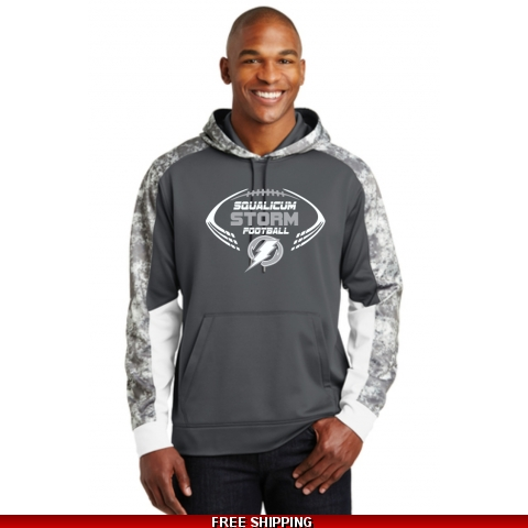 Storm Football Camo Performance Hoodie